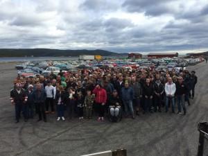 Tidningen Bilsport gör reportage om shra övik. Plats Köpmanholmen