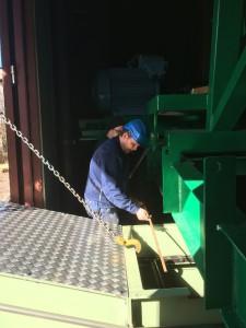 Montering transportör provhugg Domsjö fabriken. Kund ÖSM